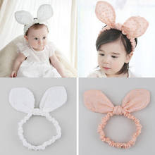 1PC DIY Baby Kids Girls Hair Accessories Turban Knot Headband Bow Big Rabbit Ears Head Wrap Head Scarves Headwear(China)