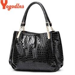 Yogodlns clássico padrão crocodilo bolsa das Mulheres saco de luxo de alta qualidade designer de marca bolsa de ombro grande capacidade Saco Do Mensageiro