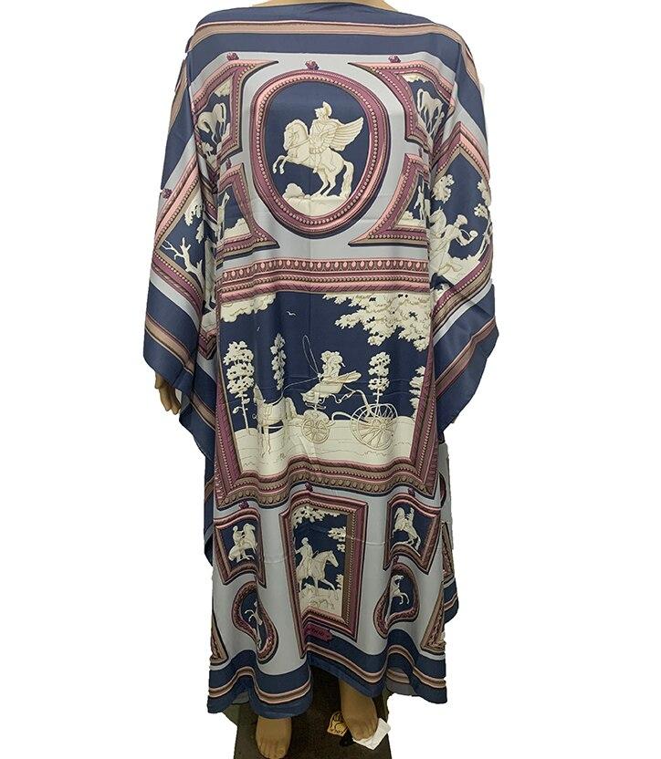 2020 Kaftan Fashion Muslim Women Robe Dress Batwing Sleeve Summer Bohemian Silk Kaftan Maxi dresses African dresses for women