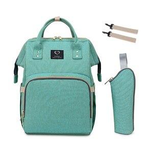 Image 1 - Baby diaper bag mommy stroller bags USB large capacity waterproof nappy bag kits mummy maternity travel backpack nursing handbag