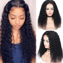 Curly Closure Wig Human Hair Brazilian Lace Closure Remy Human Hair Wigs With Baby  Hair Pre Plucked Bleached Knots HANNE Hair ross pretty remy hair kim k closure 2 6 brazilian straight hair lace closure human hair pre plucked with baby hair