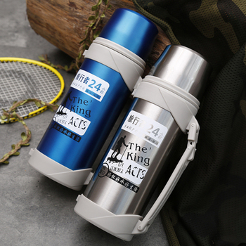 Stainless Steel Thermos High capacity Travel Hiking Office Camping Adventure Thermo Cup Leakproof Portable Sports Vacuum cup