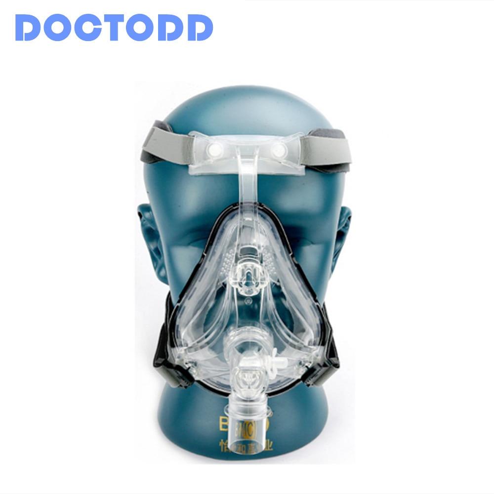 Doctodd FM1 маска для лица CPAP Авто CPAP BiPAP маска с бесплатным головным убором Белый s m l для апноэ сна OSAS храп людей