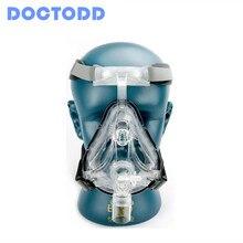 Doctodd FM1 Volgelaatsmasker Cpap Auto Cpap Bipap Masker Met Gratis Hoofddeksels Wit Sml Voor Slaapapneu osahs Osas Snurken Mensen
