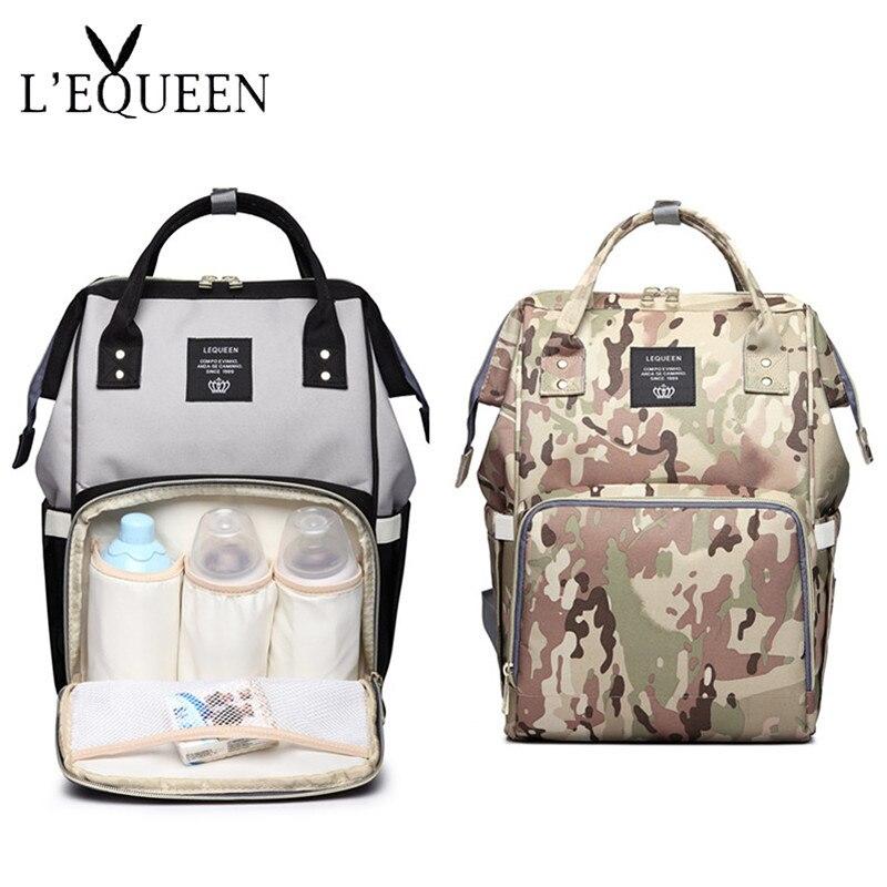 LEQUEEN Large Capacity Diaper Bag Mommy Backpack Nursing Bag For Baby Women Multi-function Waterproof Maternity Stroller Bag