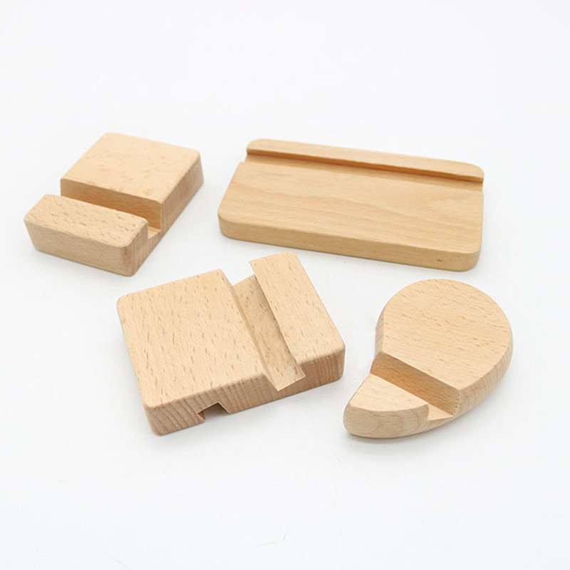 Wooden Mobile Phone Stand Universal Phone Holder Stands For IPhone For Samsung  Pad Tablet Stand Desk Phone Rack  8*6*2cm
