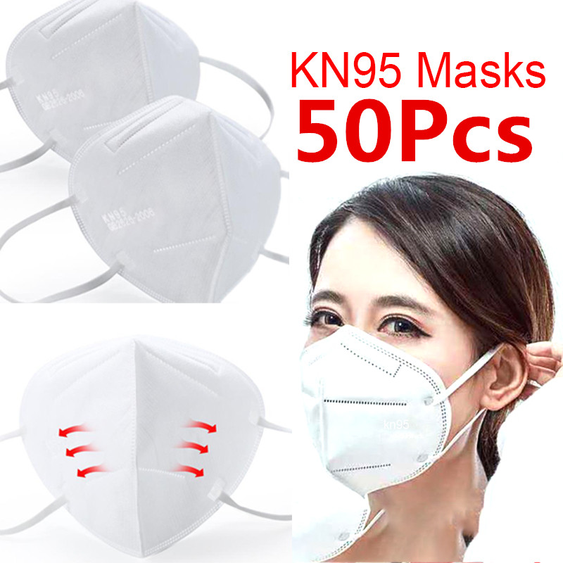 100/50 PCS N95 3 Layer Non-Woven Mask With Breathing Valve KN95 Anti-coronary Mask Anti-cold Anti-particle PM2.5 Mask KF94 FFP2