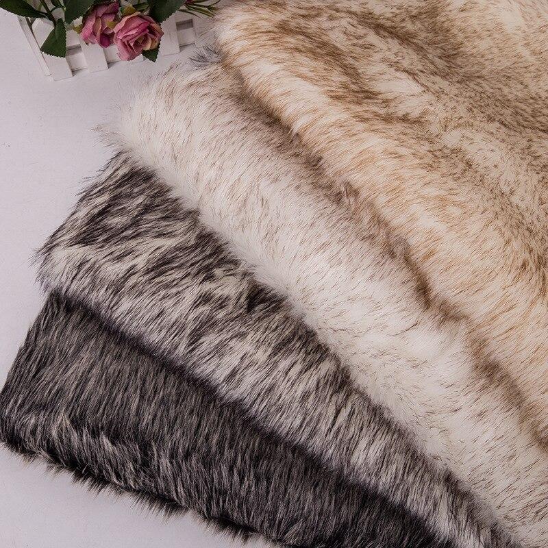 160*100cm fourrure de lapin fausse peluche tissu pour manteau oreiller col roulé maison couverture 3cm longue pile peluche fourrure tissu telas