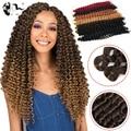 Синтетические кудрявые волосы Dream ice, Омбре, плетеные косы для наращивания волос, свободная изогнутая плетеная прядь для волос