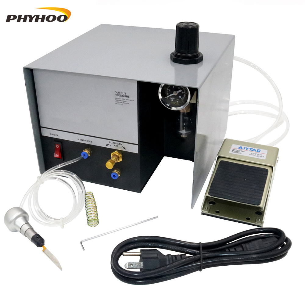 Pneumatic Engraving Machine GraverMate Jewelry Engraver  Single Working  Handle Metal Jewelry Making Equipment 220/110V