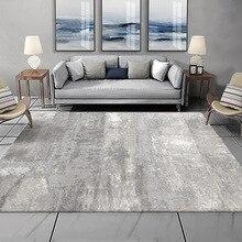 Современный Высококачественный ковер в скандинавском стиле, прикроватный ковер серого и белого цвета с абстрактными чернилами для гостино...