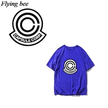 Flyingbee Sun Wukong Heat Transfer Patches Cool Anime Iron-on Patches For Clothing T-shirt Heat Press Patches Sticker X0667 flyingbee diy heat transfer patches weird thing iron on patches for clothing t shirt decoration heat press appliqued x0657