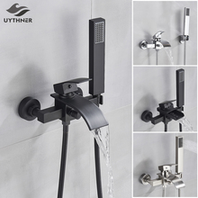 Mixer Tap Faucet Waterfall-Spout Bathroom-Tub Hand-Shower with Single-Handle Uythner