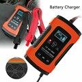 Auto Batterie Ladegerät 12V 5A LCD Intelligente Automobil Motorrad Puls Reparatur UK