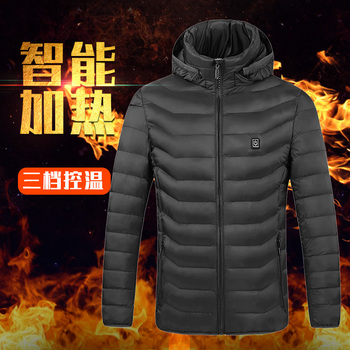 High Quality Heated Jackets Vest Down Cotton Mens Women Outdoor Coat USB Electric Heating Hooded Warm Winter ThermalCoat - discount item  45% OFF Camping & Hiking