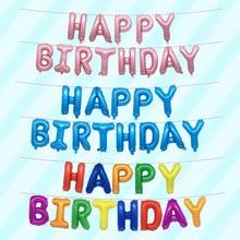 Воздушный шар с днем рождения, воздушные буквы Alphabe, розовое золото, фольга, воздущные шары детские игрушки, свадьба, вечеринка, день рождения, гелиевые шары, вечерние шары