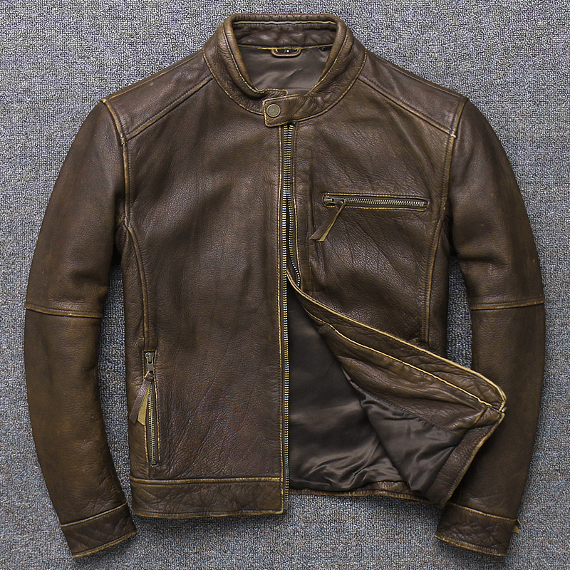 100% Genuine Leather Jacket Men Clothes 2020 Autumn Winter Real Fit Cow Leather Jackets Plus Size 4XL Coat Jaqueta De Couro 094B