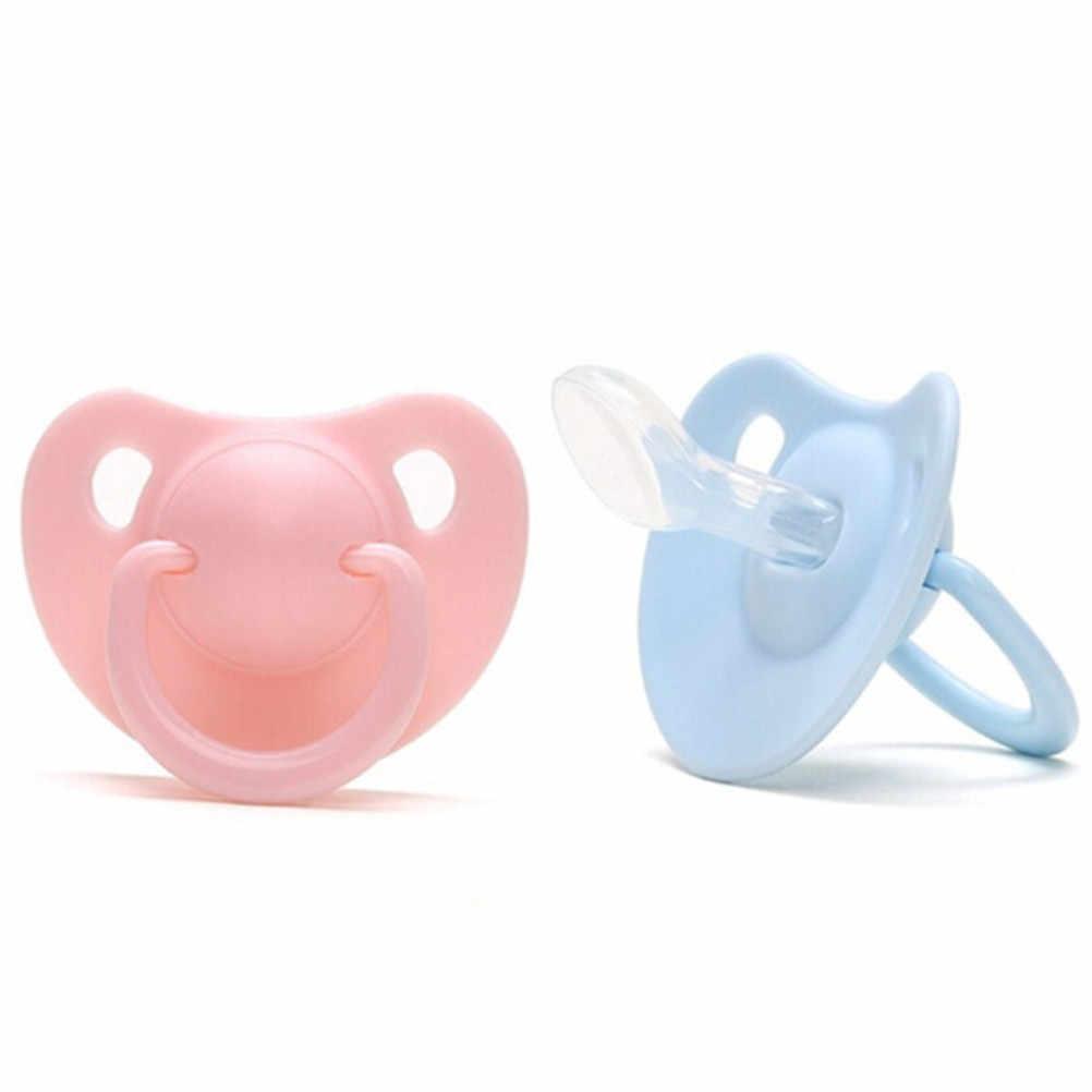 1 unidad cuidado del bebé Infante chupete para Infante boquilla redonda plana Gel de silicona amor forma de corazón Simple claro transparente seguro