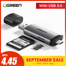 Ugreen Card Reader USB 3.0 Type C to SD Micro SD TF Adapter for laptop Accessories OTG Cardreader Smart Memory SD Card Reader(China)