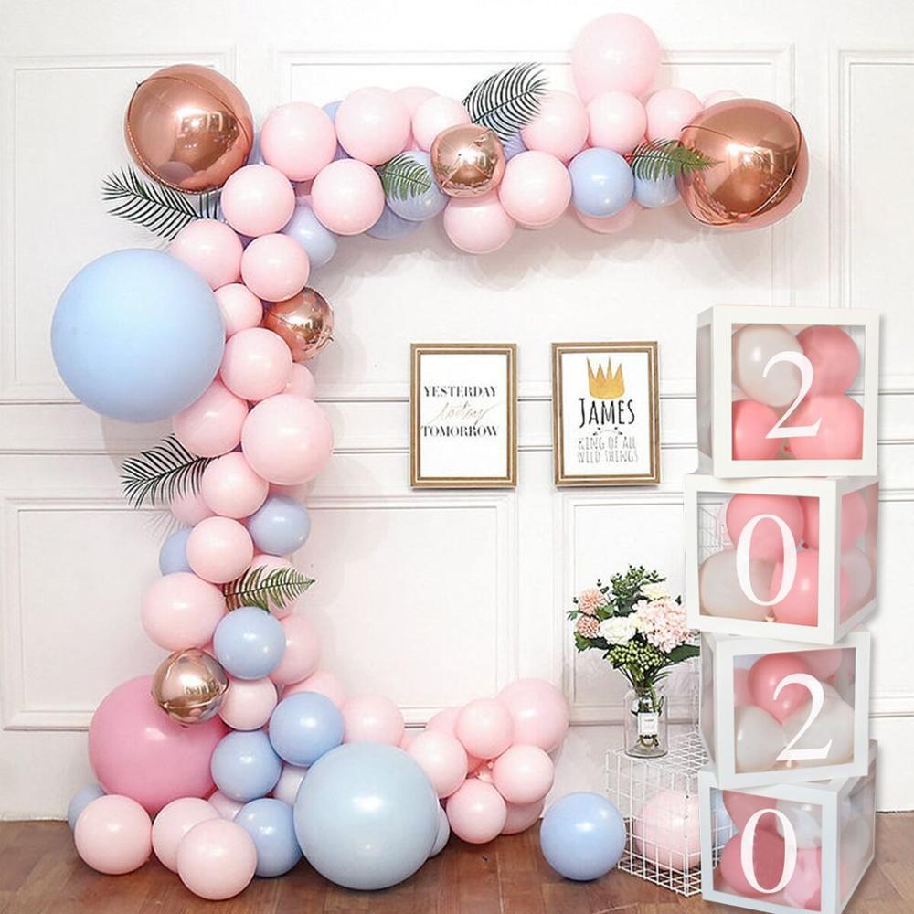 rose et bleu l/'amour baby shower 2e anniversaire gonflable les ballons de latex