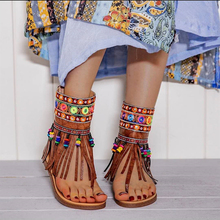 Summmer Shoes Flat Sandals Women Sexy Tassel 2020 Lady Rome