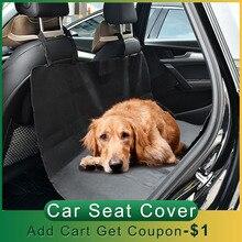 Capa de assento do carro do cão do animal de estimação à prova dwaterproof água capa de assento do carro do cão traseiro volta esteira anti risco tampas de assento roap viagem cobertor para animais de estimação