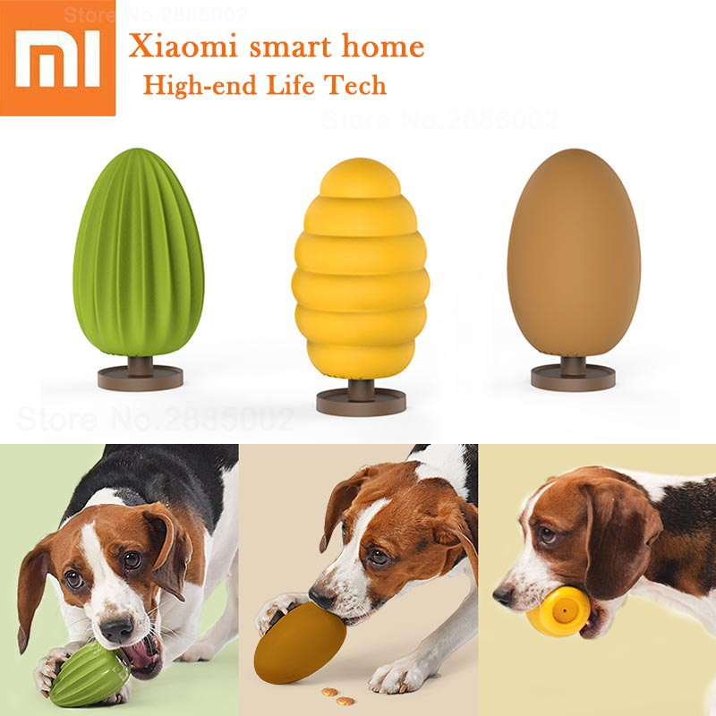 Xiaomi PETKIT Sound Dog Toys Training Molar Tooth Cleaning Brush Dental Care Chew Safety Rubber Ball Funny Interactive Dog Toys