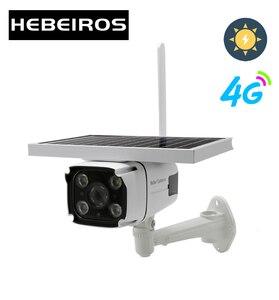 Image 1 - Hebeiros 4G SIM כרטיס שמש סוללה מצלמה 1080P עמיד למים חיצוני IP Wifi מצלמה אודיו אלחוטי אבטחת מעקב טלוויזיה במעגל סגור