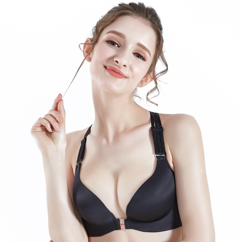 Сексуальный удобный мягкий женский бюстгальтер Elovegirl, нижнее белье большого размера 75A-115E, два цвета, дышащий бюстгальтер с застежкой сперед...