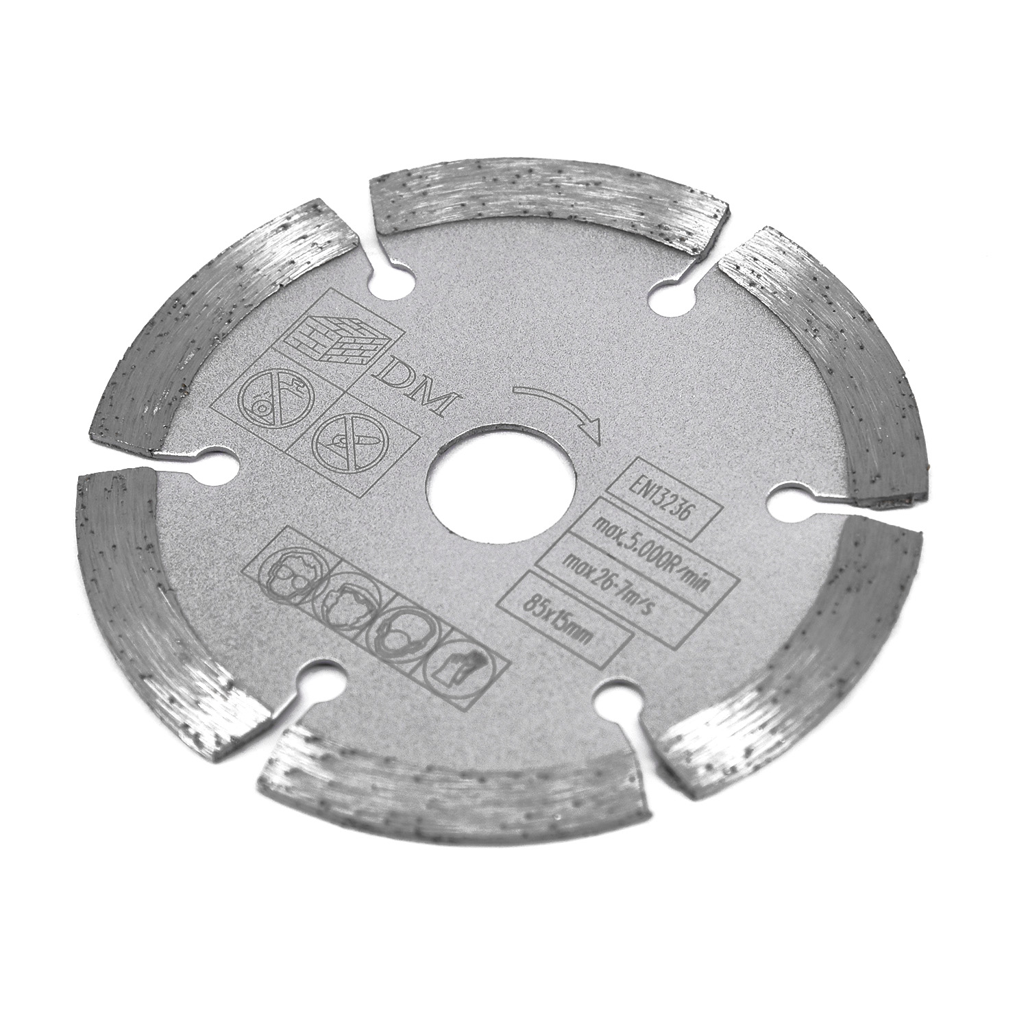 1pc 85mm 15mm Bore Diamond Segmented Circular Saw Blade For Makita Bosch For Wood Cutting Disc Woodworking Saw Blade