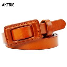AKTRIS All-match Anti Sensitive Buckles Belt Ladies Simple Casual Belts fashion Dress Pants Thin version Accessories FCO027