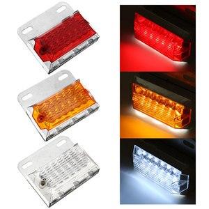 Image 2 - 2/4/6/10 sztuk 24V 15 światła obrysowe LED oświetlenie samochodu lampy zewnętrzne Squarde ostrzeżenie tylne lampy kierunkowskazu u nas państwo lampy Auto ciężarówka z przyczepą ciężarówki