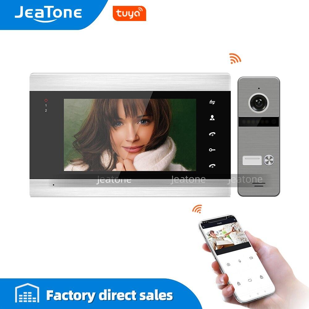JeaTone Tuya Smart App Remote Control IP Video Door Phone WiFi Video Intercom Multi-Apartments Security Access Control System