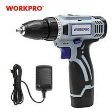 WORKPRO 12V Household Electric Cordless Drill Lithium-Ion Battery Cordless Drill DIY Wireless Electric Drill Power Driver Drill(China)