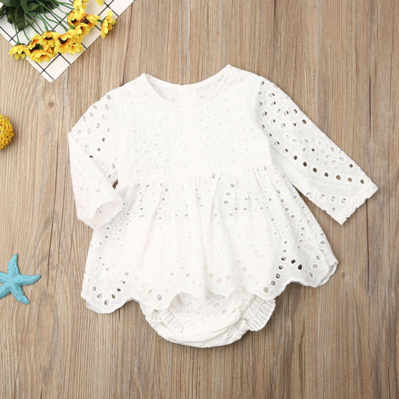 Baby Girl Lace Long Sleeve Dress 0-24M