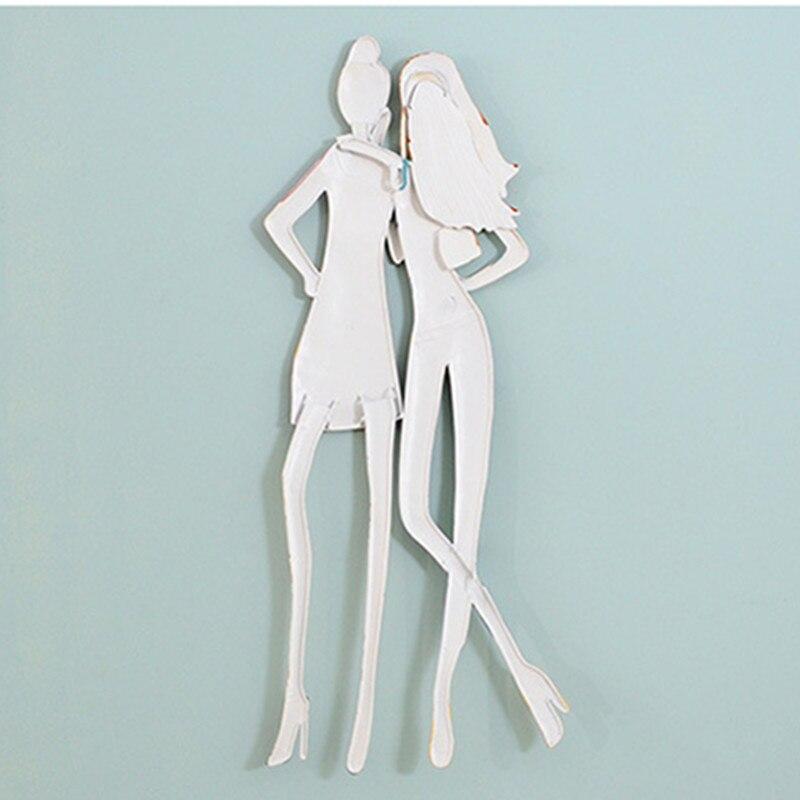 Roogo скандинавские сны Девушка настенное украшение для дома аксессуары 3D настенное искусство полимерная для домашнего декора для декора гос... - 6