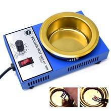 Solder Pot Tin Melting Furnace EU/US Plug  220V/110V Thermoregulation Soldering Desoldering Bath 100/50 mm 200~450 Centigrade