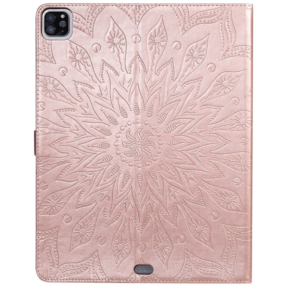 Shell Flower Embossed for Case 2020 Protective Leather 12 3D Pro Cover 9 Skin iPad