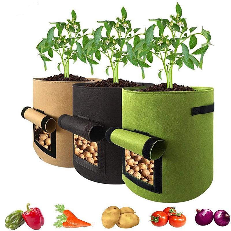 Vegetable Plant Grow Bag Home Garden Potato Greenhouse Vegetable Growing Bags Moisturizing jardin Seedling Bag Garden Tools