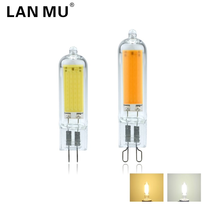 6W 9W G4 G9 LED Dimmable Light Bulbs COB Glass LED Lamps Replace 40W 60W Halogen Bulb For Pendant Lighting Fixture Chandeliers