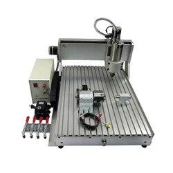 60*40cm frezowanie CNC maszyna 6040 3 osi 4 osi 800W LPT USB 3d rzeźbione W drewnie cnc grawerowanie maszyna do grawerowania na PCB kamień metal