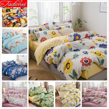 Colorful Flower Pattern Duvet Cover Sheet Pillowcase Bedding Set Adult Child Boy Girl Single Twin Queen Super King Size 150x200
