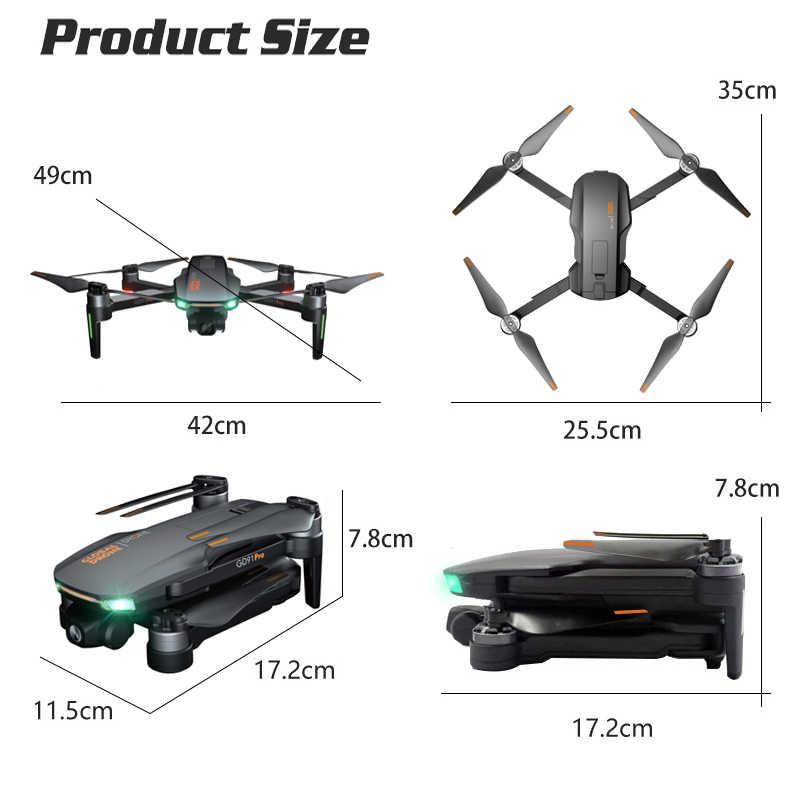 Dron 4 18K GPS 折りたたみドローン hd カメラ Quadcopter フォローミーブラシレス RC Quadrocopter VS Hubson SG906 E520S 禅 k1 F11 プロ