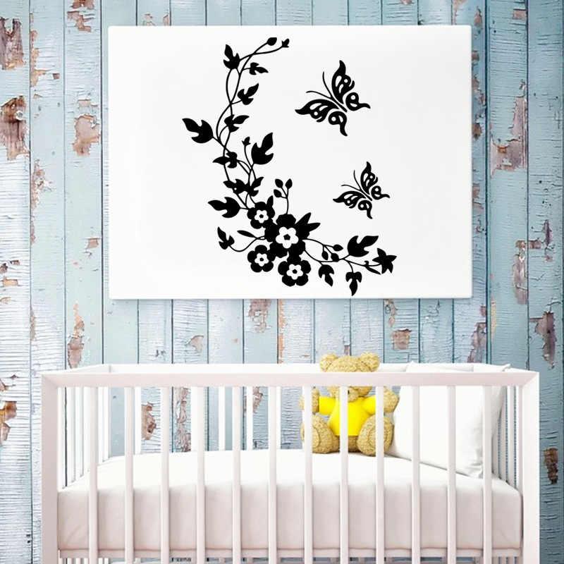 ノベルティ蝶の花のつる便座ビニールステッカー冷蔵庫家の装飾キッチンルーム壁画壁の芸術のステッカー
