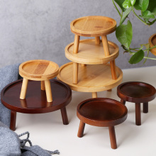 Trays Stool Base-Holder Flower-Shelf Plant-Stand Balcony Wooden Succulent Outdoor