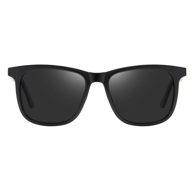 2020 Fashion Retro Women's HD Polarized Sunglasses UV400 Protection Square Anti-glare Driving Sun Glasses for Men 2