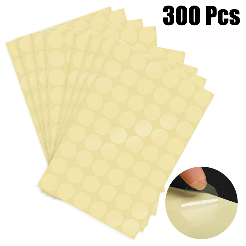 300pcs/pack Round PVC Clear Blank Stickers Waterproof For Package And Evenlope Seal Labels Sticker Thank You Stationery Sticker
