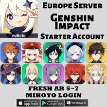 Starter Account Genshin Childe/jean Cheap Europe/asia 5-10