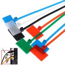 100 шт 4*150 мм нейлоновые кабельные стяжки этикетки пластиковое кольцо Галстуки маркеры кабельная бирка самоблокирующиеся почтовые стяжки легкая Марка
