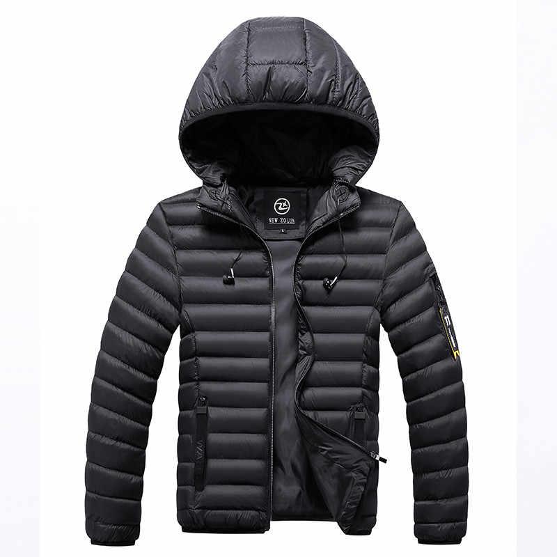 男性の冬のカジュアルフード付きパーカーメンズジッパーパーカー厚手 2019 新マンの屋外暖かいジャケットコート男性スポーツウェア 3XL